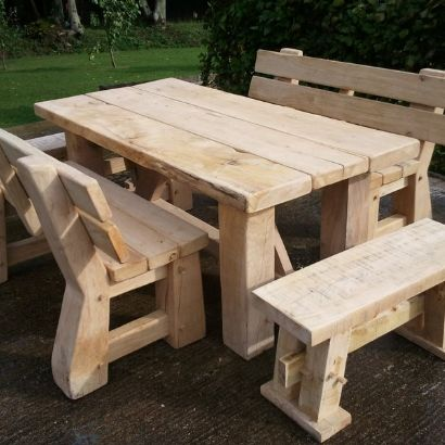 Beam / brace table with park benches